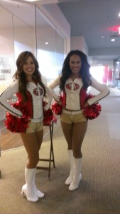 IMAG2450 alexa and kayley 49ers gold rush cheerleaders