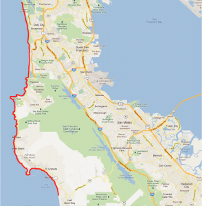 Google Maps: Hike, Coastal Bay Area