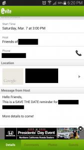 evite event details