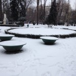 cismigiu park in the snow
